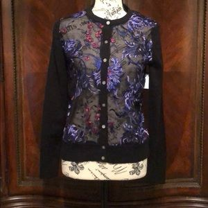 NWOT a new day sz XS GORGEOUS DETAIL SHEER FRONT